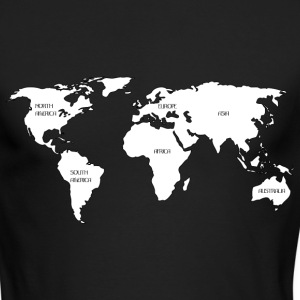 World map Long Sleeve Shirts - Men's Long Sleeve T-Shirt by Next Level