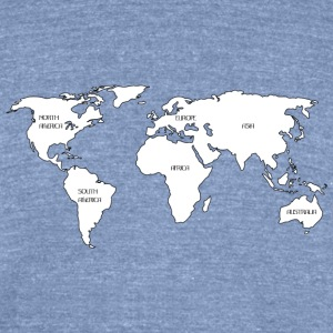 World map T-Shirts - Unisex Tri-Blend T-Shirt by American Apparel
