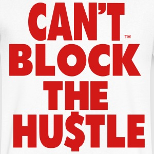 CAN'T BLOCK THE HUSTLE - Men's V-Neck T-Shirt by Canvas