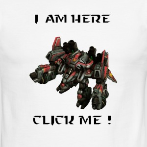I am here click me - Men's Ringer T-Shirt