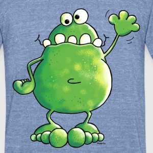 Naughty Frog - Frogs T-Shirts - Unisex Tri-Blend T-Shirt by American Apparel