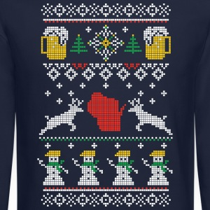 CHRISTMAS IN WISCONSIN Long Sleeve Shirts - Crewneck Sweatshirt