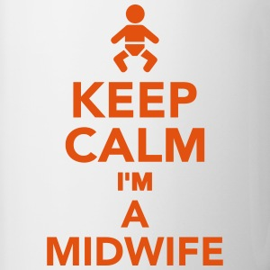 Keep calm I'm a Midwife Bottles & Mugs - Contrast Coffee Mug