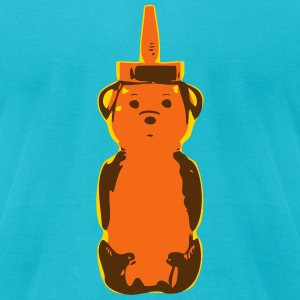 3 color Bear - Men's T-Shirt by American Apparel