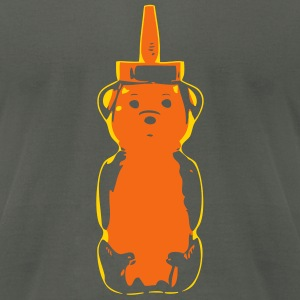 2 color Bear - Men's T-Shirt by American Apparel