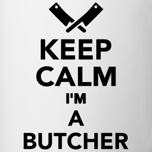 Keep calm I'm a Butcher Bottles & Mugs - Contrast Coffee Mug