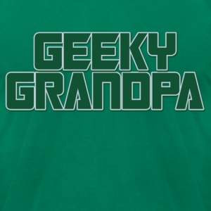 Geeky Grandpa - Men's T-Shirt by American Apparel
