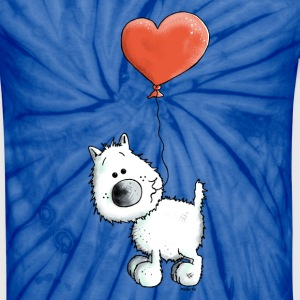 West Highland White Terrier - Dog With Heart T-Shirts - Unisex Tie Dye T-Shirt