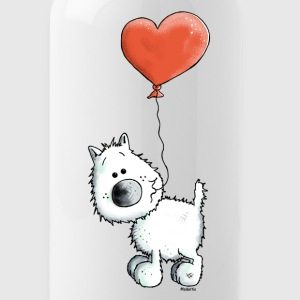 West Highland White Terrier - Dog With Heart Bottles & Mugs - Water Bottle