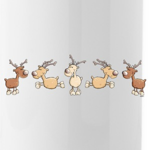 Funny Reindeer - Elk Bottles & Mugs - Water Bottle