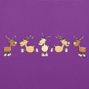 Funny Reindeer - Elk Bags & backpacks - Tote Bag