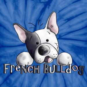 Sweet French Bulldog - Dog - Dogs T-Shirts - Unisex Tie Dye T-Shirt