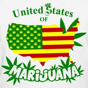 United States of MARIJUANA Women's T-Shirts - Women's T-Shirt