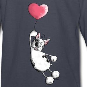 French Bulldog With Heart - Dog Kids' Shirts - Kids' Long Sleeve T-Shirt