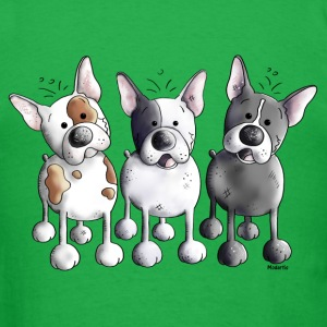 Three French Bulldogs - Bulldog - Dog T-Shirts - Men's T-Shirt