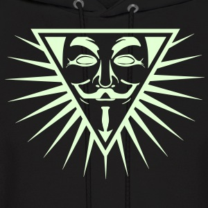 Anonymous NWO logo 1c Hoodies - Men's Hoodie