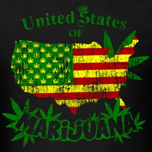 US of Marijuana  vintage T-Shirts - Men's T-Shirt