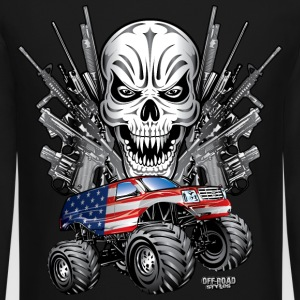 Monster Patriot Escalade Long Sleeve Shirts - Crewneck Sweatshirt