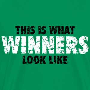 Winner T-Shirt (Green) Men - Men's Premium T-Shirt