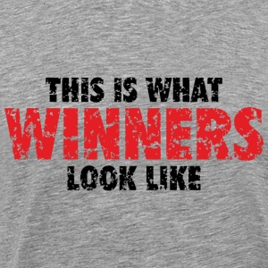 Winner T-Shirt (Gray) Men - Men's Premium T-Shirt