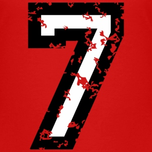 Number Seven T-Shirt No.7 (Kids Red) - Kids' Premium T-Shirt