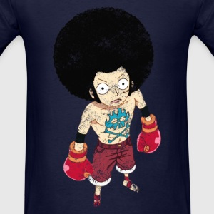 Boxing Luffy Grunge Style - Men's T-Shirt