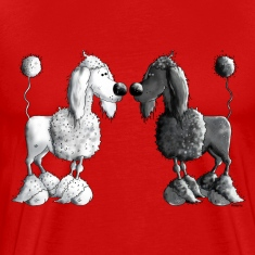Black And White Poodle - Dog T-Shirts