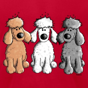 Three Funny Poodle - Dog - Dogs T-Shirts - Men's T-Shirt by American Apparel