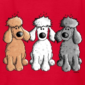 Three Funny Poodle - Dog - Dogs Kids' Shirts - Kids' T-Shirt