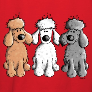 Three Funny Poodle - Dog - Dogs Hoodies - Women's Hoodie