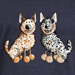 Two Australian Cattle Dogs  Long Sleeve Shirts - Women's Wideneck Sweatshirt