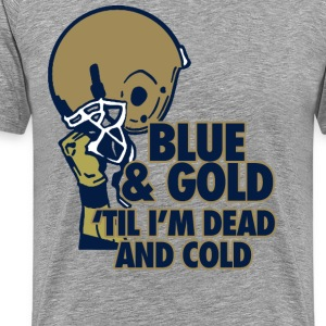 Blue & Gold T-Shirts - Men's Premium T-Shirt