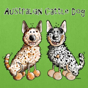 Two funny Australian Cattle Dogs - Dog Bags & backpacks - Tote Bag