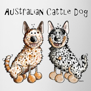 Two funny Australian Cattle Dogs - Dog Bottles & Mugs - Contrast Coffee Mug