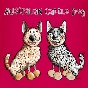 Two funny Australian Cattle Dogs - Dog Kids' Shirts - Kids' Premium T-Shirt