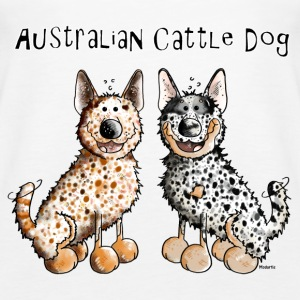 Two funny Australian Cattle Dogs - Dog Tanks - Women's Premium Tank Top