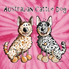Two funny Australian Cattle Dogs - Dog T-Shirts