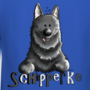 Happy Schipperke - Dog - Dogs Long Sleeve Shirts - Crewneck Sweatshirt
