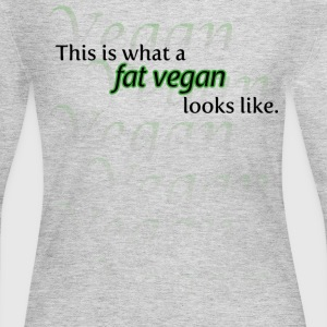 Fat vegan green - Women's Long Sleeve Jersey T-Shirt