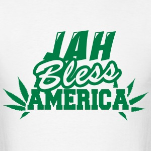 Jah Bless America Fonts T-Shirts - Men's T-Shirt
