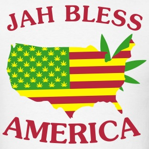 Jah Bless America Map T-Shirts - Men's T-Shirt