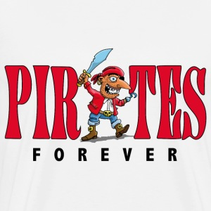 pirates_forever_07201401 T-Shirts - Men's Premium T-Shirt