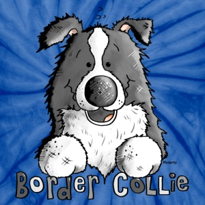 Sweet Border Collie - Dog - Dogs T-Shirts - Unisex Tie Dye T-Shirt