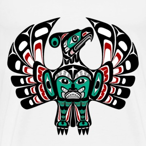 Northwest Pacific coast Haida art Thunderbird T-Shirts - Men's Premium T-Shirt