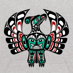 Northwest Pacific coast Haida art Thunderbird Sweatshirts