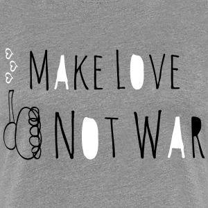 Make Love Not War Doodle Women's T-Shirts - Women's Premium T-Shirt