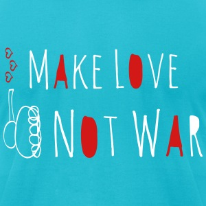 Make Love Not War Doodle T-Shirts - Men's T-Shirt by American Apparel