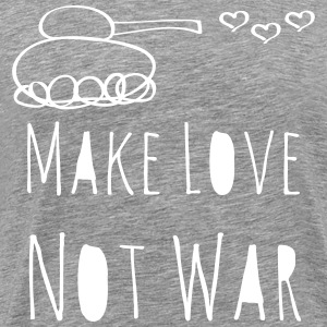 Make Love Not War Doodle T-Shirts - Men's Premium T-Shirt