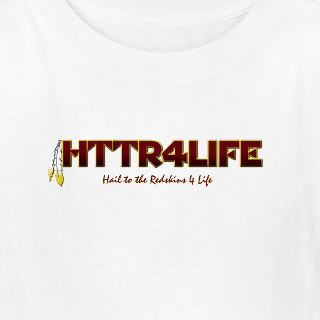 """HTTR4LIFE """"Support The Name"""" Redskins Kids Shirt"""