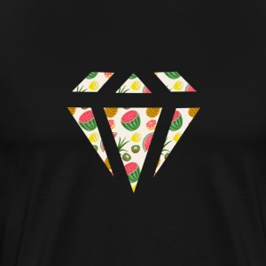 Watermelon Diamond Pattern T-Shirts - Men's Premium T-Shirt